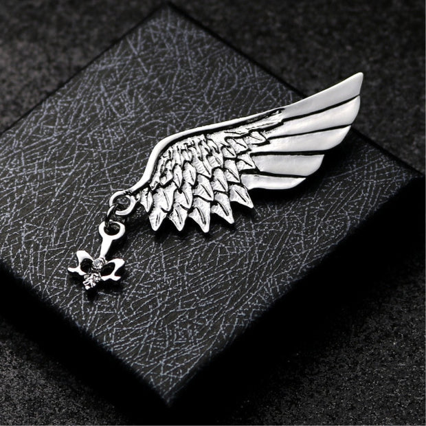 British Style Fashion Retro Brooch Pin for Men Hawk Wing Crown Rudder Elk Owl Leaf Badge Suit Shirt Collar Accessories