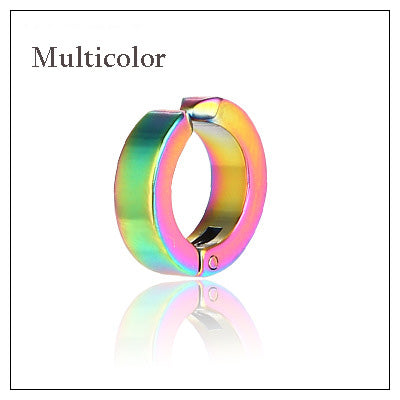 1 Pcs Fashion Ear Clip Non Piercing Fake Circle Round Earring for Unisex Punk Rock Style