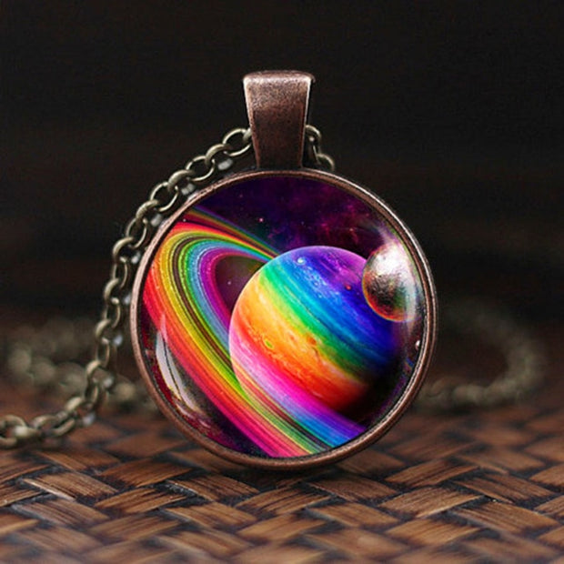Charming Nebula Galaxy Space Glass Solar System / Space / Universe Milky Way Jewelry Necklace
