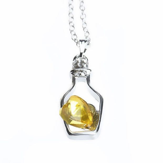 Fashion Crystal Necklace Popular Love Drift Bottles