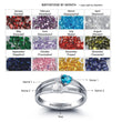 Personalized 925 Sterling Silver Double Heart Birthstone Ring DIY Name Ring Customize Jewelry Unique Gift