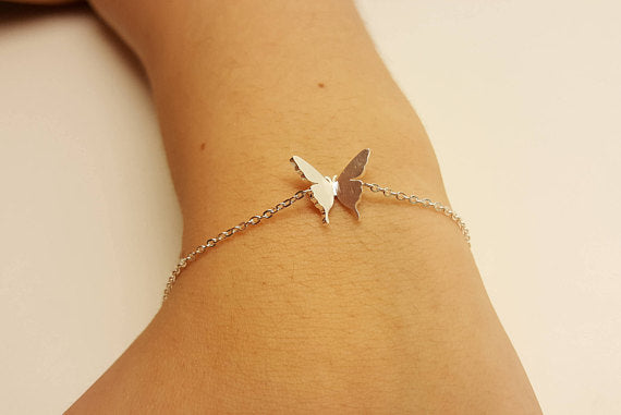 Butterfly Gold Color Stainless Steel Anklets Bracelet