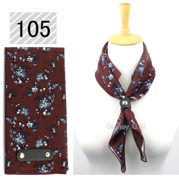 Fashion Cotton Scarf for Women & Men Casual Floral Print Ladies Wrap 60*60cm Soft Pocket Square