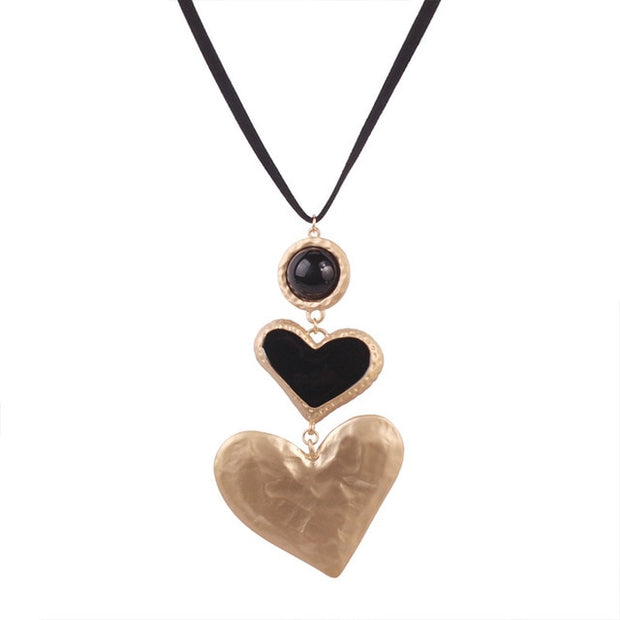 Big Love Heart Collar Necklaces