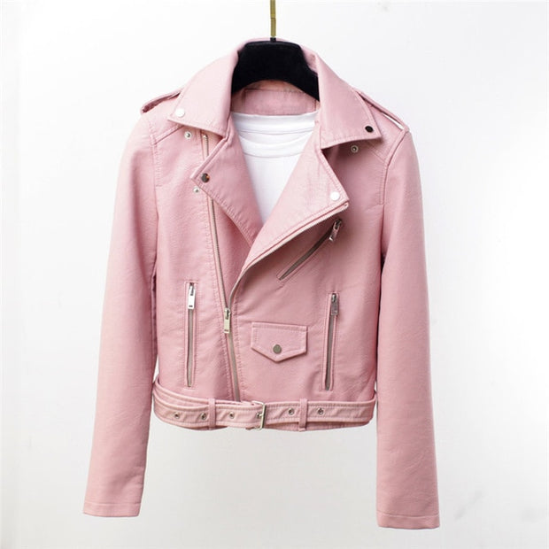 Moto Leather Jacket Women