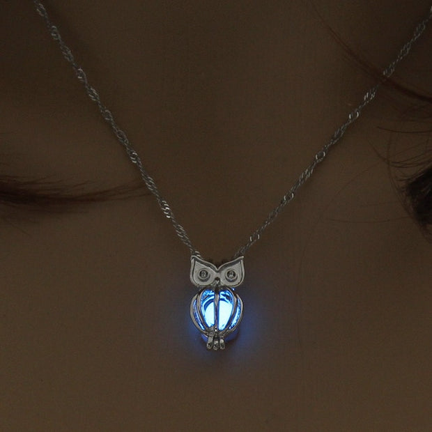 Charm Glowing owl Luminous Necklace