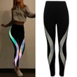 Rainbow Reflective Leggings  Sports / Gym / Running / Athletic Pants