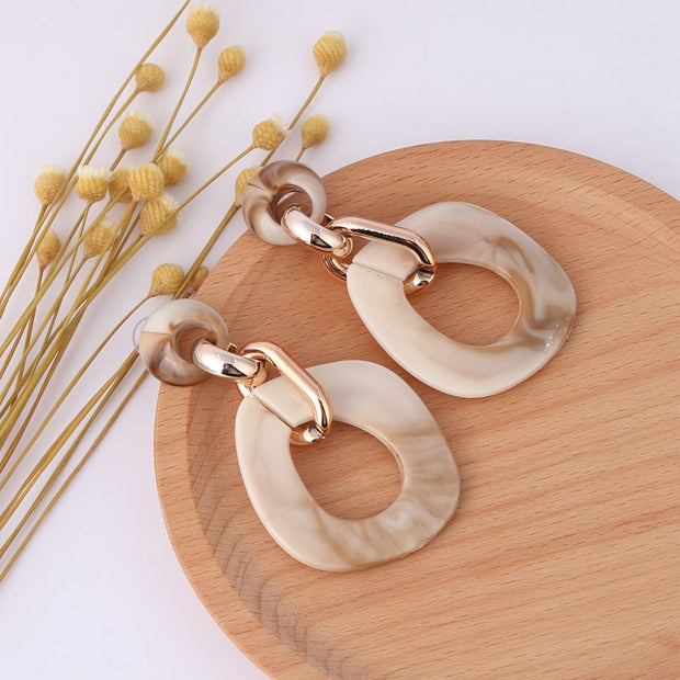 Elegant Acrylic Geometric Long Dangle Earrings