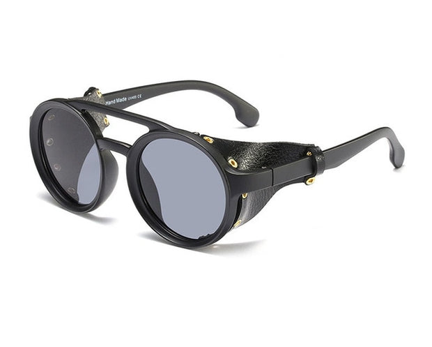 Design Fashion Unisex Leather Sunglasses