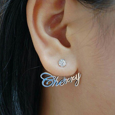 Zircon personalized Name Stud Earrings