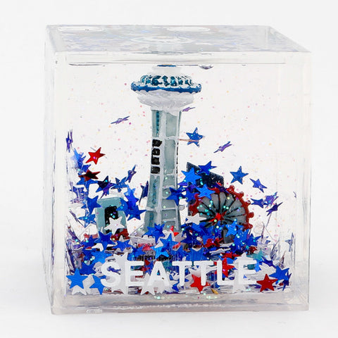 Seattle USA made cube snowglobe