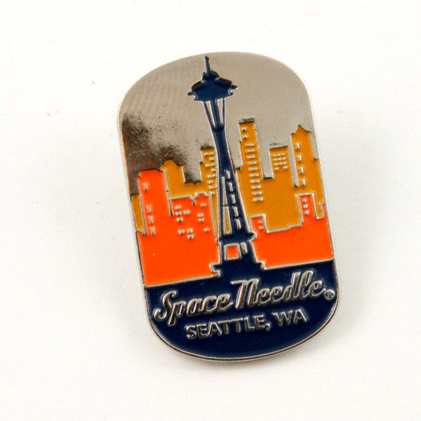 Space Needle Dog Tag Lapel Pin
