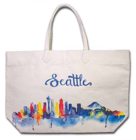 Watercolor Skyline Tote