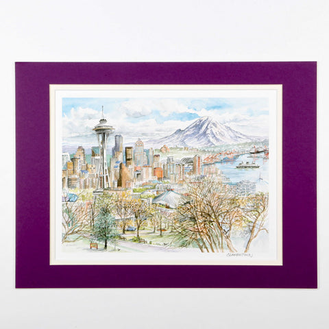 Seattle Watercolor Print
