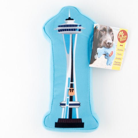 Space Needle Squeaky Dog Toy