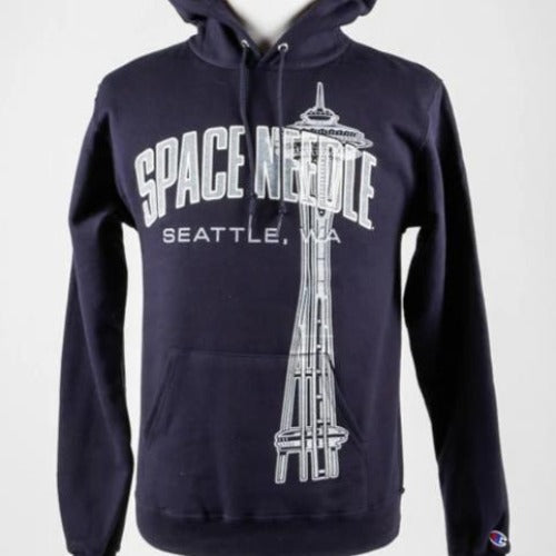Space Needle Champion Hoodie (Navy)