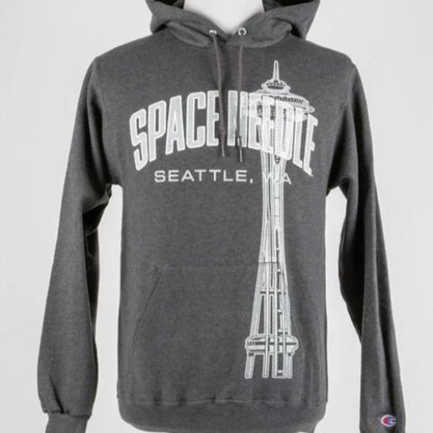 Space Needle Champion Hoodie (Gray)