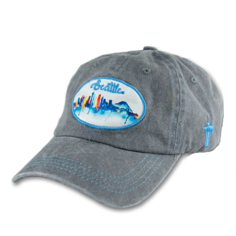 Watercolor Skyline Baseball Cap
