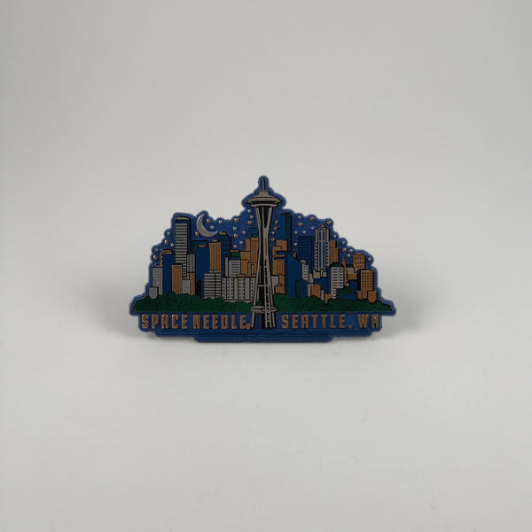 Night sky Seattle Skyline Magnet