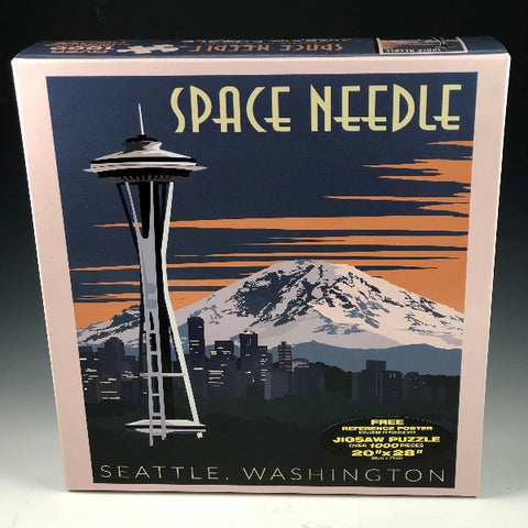Space Needle Deco Jigsaw Puzzle