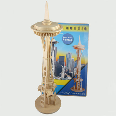 Space Needle Wood Model