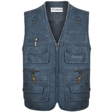 Load image into Gallery viewer, Denim Vest Men's Jacket Sleeveless