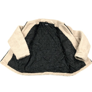 Loose Fit Quilted Sherpa Jacket Khaki/Brown