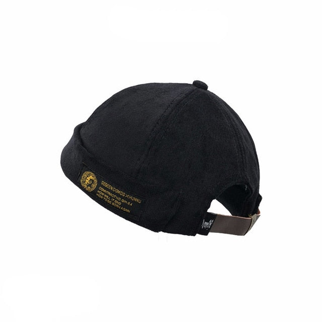Mens Corduroy Adjustable skullcap