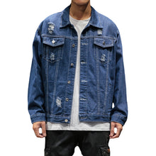 Load image into Gallery viewer, Mens Bomber Thin Ripped Denim