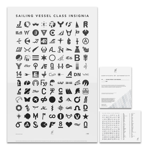 Sailing Vessel Class Insignia, Black & White, Limited Edition