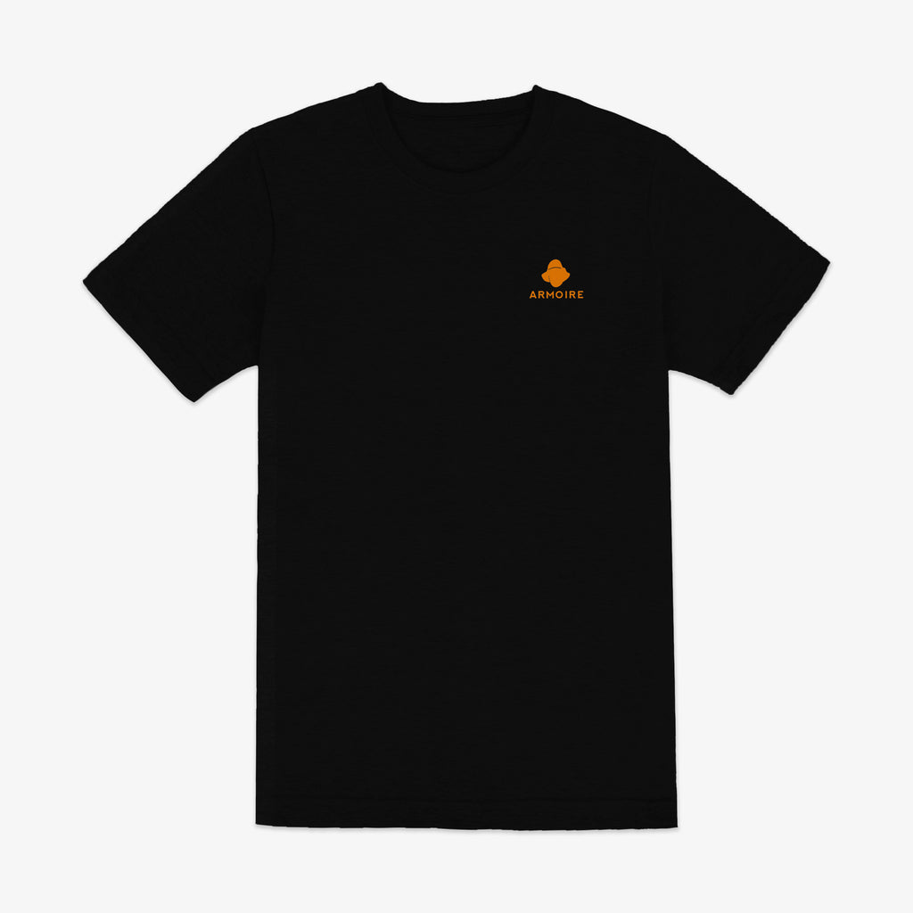 ARMOIRE Topography Tee - Black and Orange