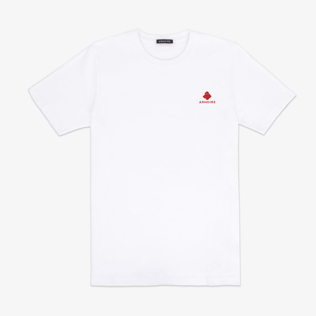 ARMOIRE Traveling Man Tee - White and Red