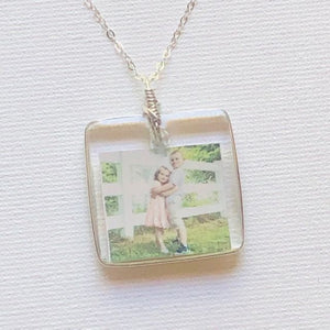 Photo Jewelry, Photo Necklace, The Krystle Kollection, Handmade Jewelry, Preservation Jewelry, Keepsake Jewelry