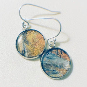 Autumn resin earrings