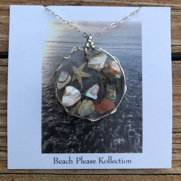 Abalone Shell and Starfish Necklace