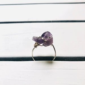 Adjustable Amethyst Ring