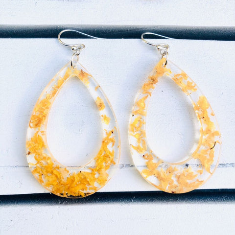 Bold Japanese Rose Earrings