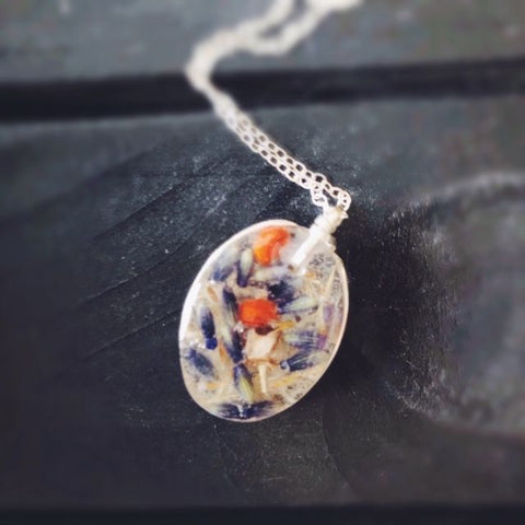Wild Berries in Lavender Fields Necklace
