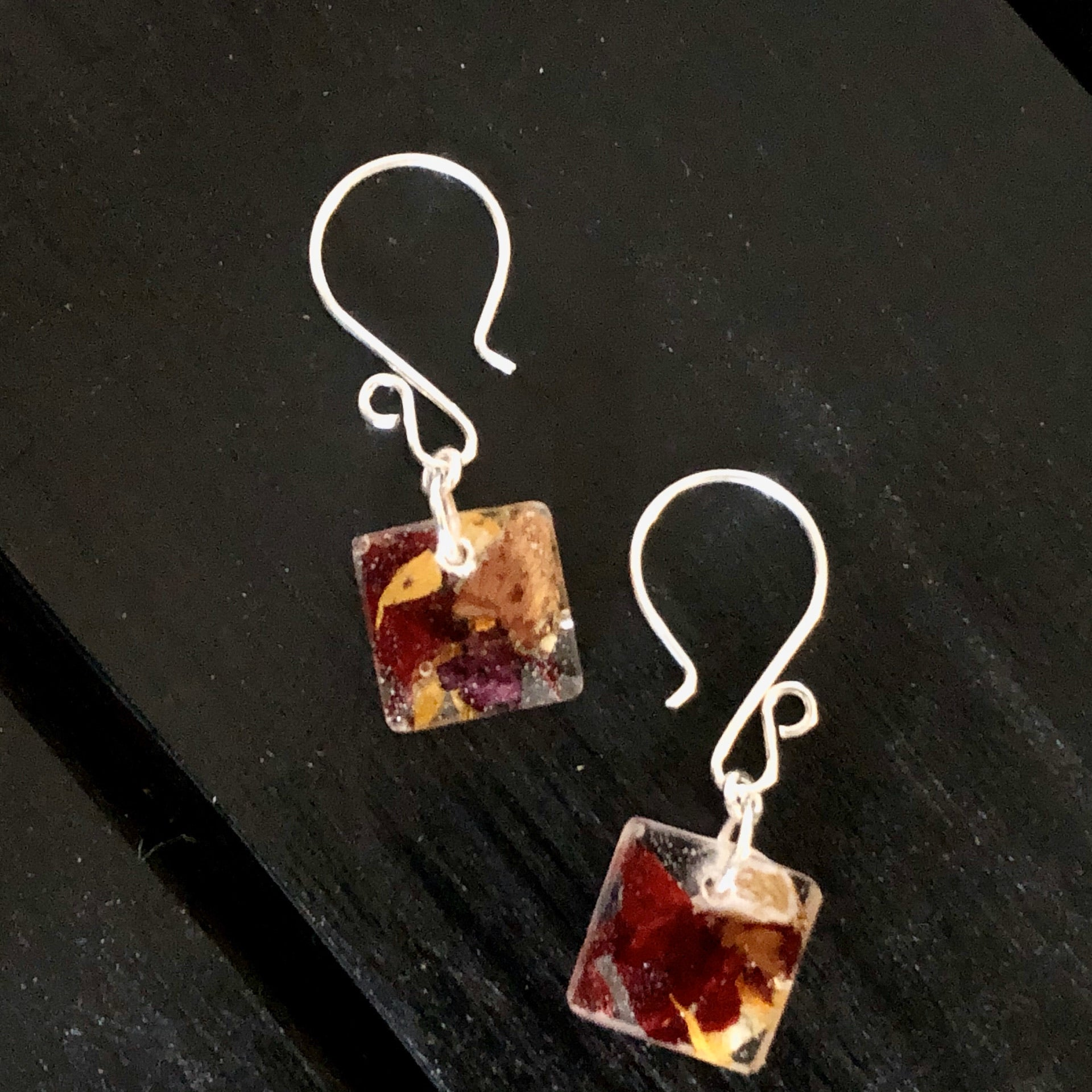 Spring Confetti Square Earrings