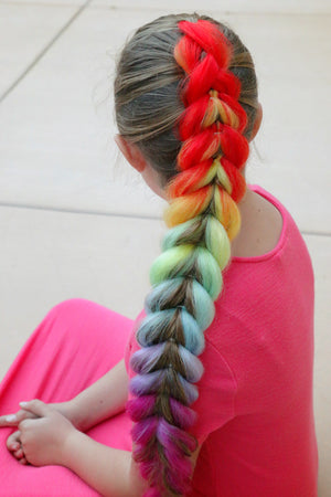 Rainbow Kanekalon Hair