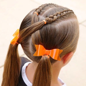 Orange Braid Bows