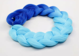 Blue Ombre Kanekalon Hair