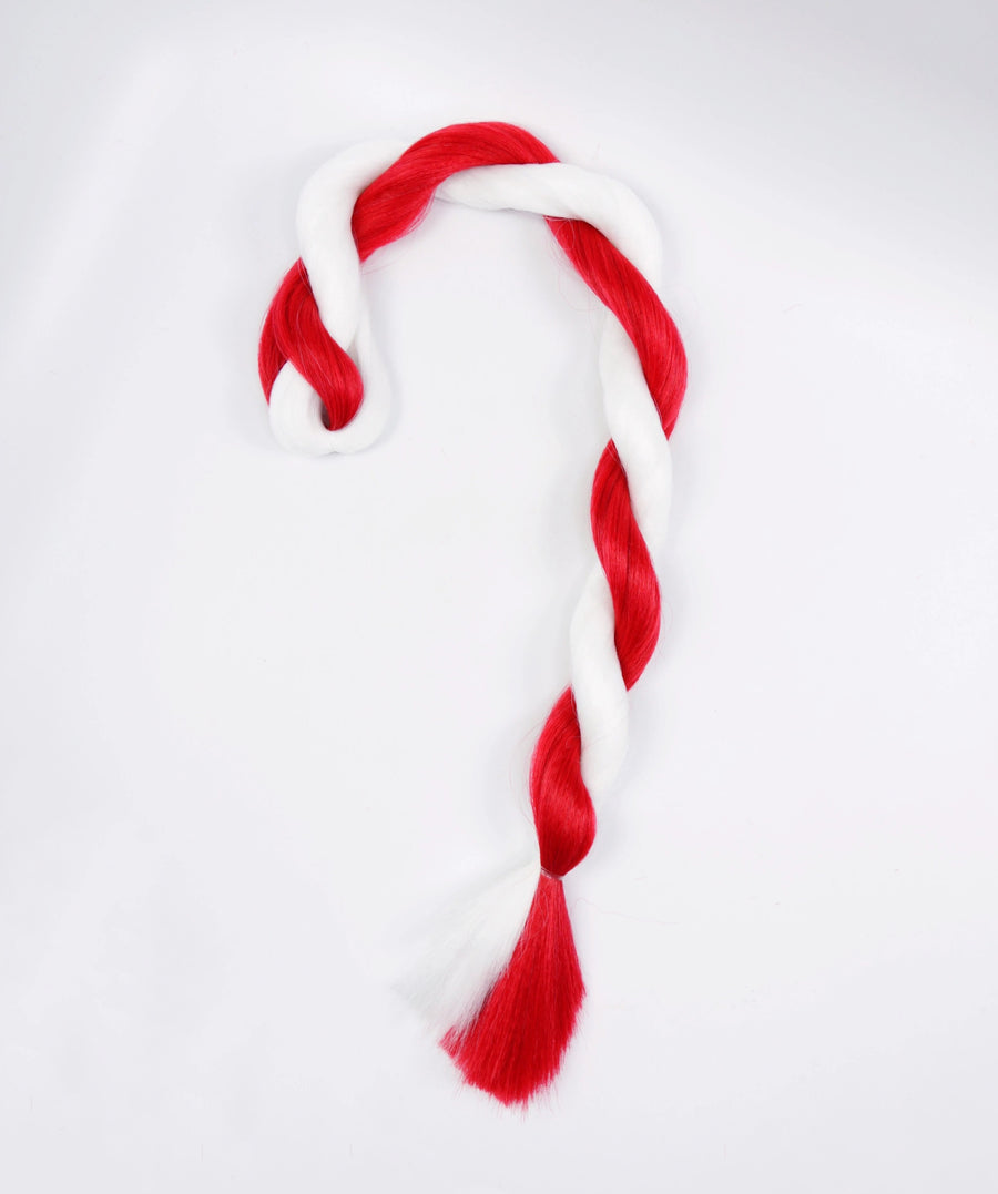 Candy Cane Kanekalon Hair