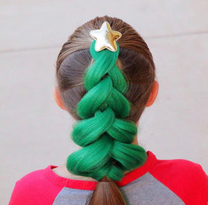 Green Kanekalon Hair