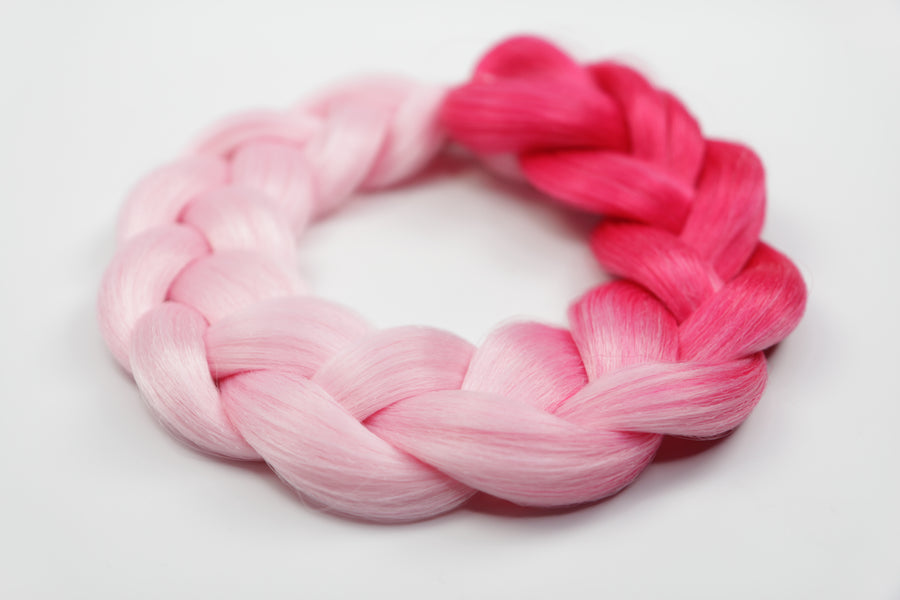 Pink Ombre Kanekalon Hair