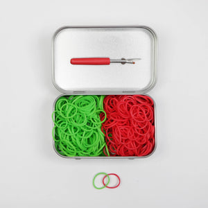 Red & Green Elastic Tin Kit