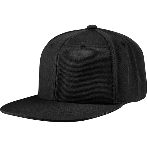 9200 6 Panel Snap Back Black