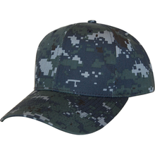 Load image into Gallery viewer, Navy Digital Camo 6 Panel Cap - KL100ND Made In USA Hats - Cali Headwear