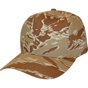 Tiger Tan Camo 6 Panel Cap - KL100TT Made In USA Hats - Cali Headwear