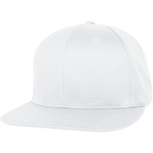 6 Panel Structured Performance Cap with Flat Bill- PR20